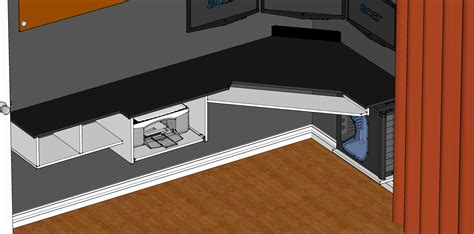 how to build a gaming desk laminate what material can i use for this custom corner