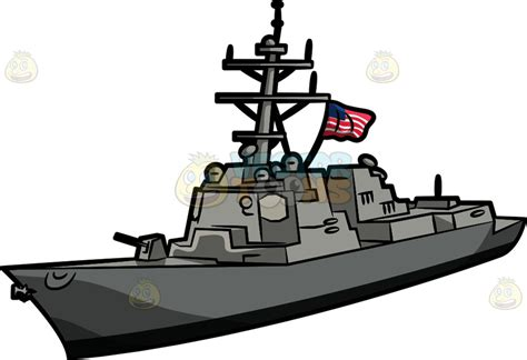 cartoon clipart the uss jason dunham war ship - War Boat Clipart