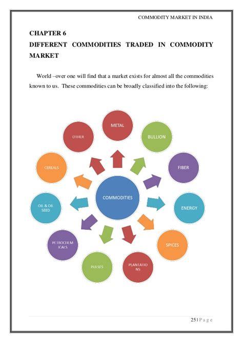 commodity exchange market commodity market project