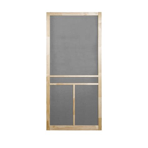 Screen Doors Lowes by Shop Screen Tight T Bar Wood Screen Door Common
