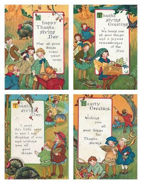 printable vintage thanksgiving cards 17 best images about thanksgiving printables on