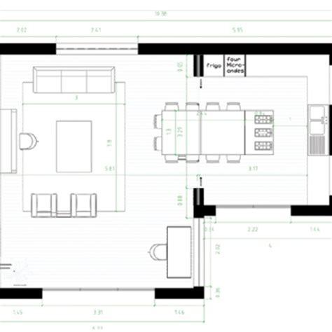 Plan Salon Cuisine Sejour Salle Manger by Comment R 233 Unir Cuisine Et Salle 224 Manger Dans Une M 234 Me