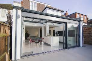 French Doors Surrey - contemporary aluminium conservatory kingston upon thames surrey