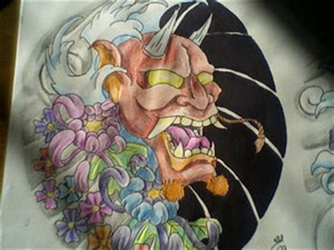 Topeng Airbrush tatatatta collection japanese hannya mask designs