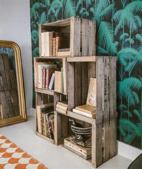 mobili con cassette di legno arredare la da letto con le cassette di legno 20