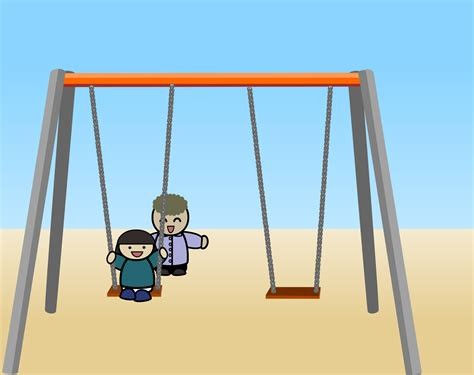 on a swing clipart child on a swing