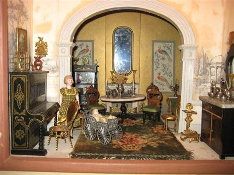 dolls house collection 1890 english house with german furniture and china head