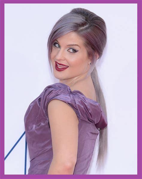 Hochzeit Frisuren Zum Selber Machen by Die Farbe Thema Lila Haare Und Kleidung Frisuren