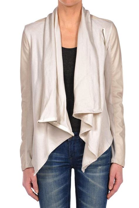 draped leather jacket blanknyc draped leather jacket from cleveland by april