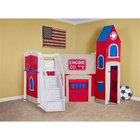 firehouse bunk bed ne school house firehouse loft bed with stairs in