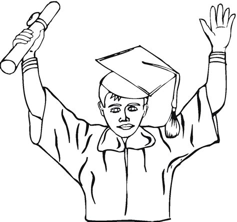 boy graduation coloring page coloring pages graduation coloring home