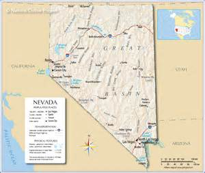 us map nevada arizona reference map of nevada usa nations project