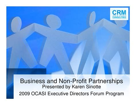 Mba Degree Non Profit by Business And Non Profit Partnership