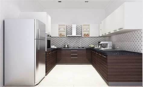 low cost modular kitchen casa ucl 106 u shape modular kitchen in laminate