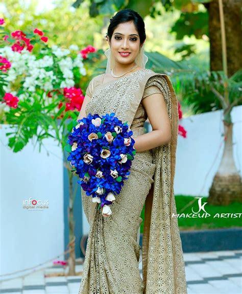 Bridesmaid Dress Patterns In Kerala - kerala christian wedding saree world