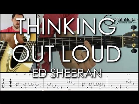 fingerstyle tutorial thinking out loud thinking out loud ed sheeran fingerstyle guitar lesson