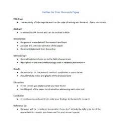 A Thesis Paper Gallery For Gt Apa Research Paper Outline Example