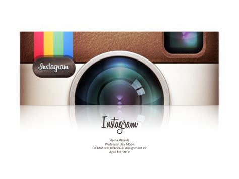 Instagram Presentation Template Instagram Powerpoint