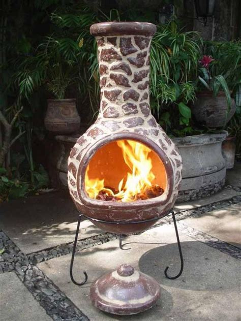 mexican outdoor fireplace mexican clay chimenea patio heater savvysurf co uk
