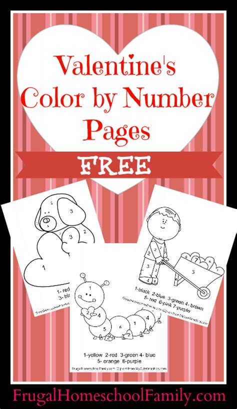 valentines color by number free valentine s color by number pages money saving 174