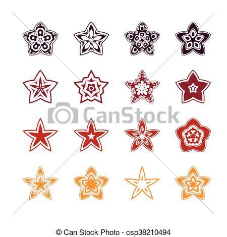 Set Stela set stella disegno icona set stella icone astratto