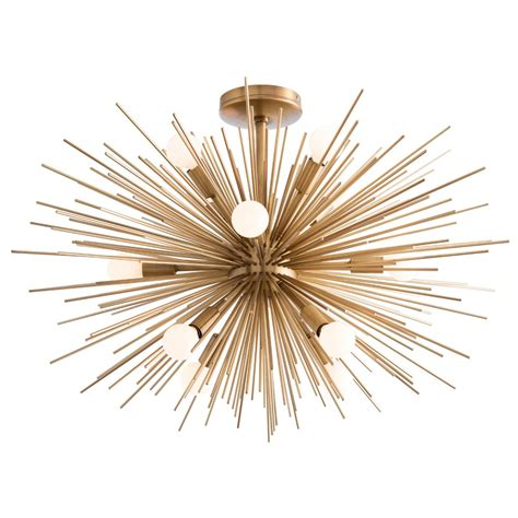 starburst flush mount light fixture zanadoo semi flush ceiling light fixture by arteriors home
