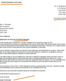 Fundraising Cover Letter by Charity Fundraiser Cover Letter Exle Forums Learnist Org