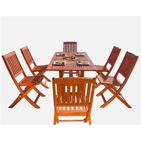 7 wood patio dining set v189set7