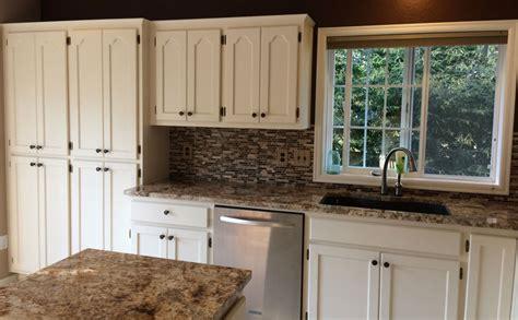 White Kitchen Cabinet Makeover Sound Finish Cabinet Painting Refinishing Seattle Seattle Kitchen Makeover Clean White