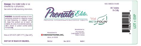 Prenagen Essential Prenate Elite Tablets Rx Prenate Elite