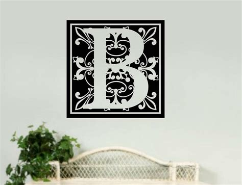 personalized home decor personalized monogram removable vinyl wall decal word