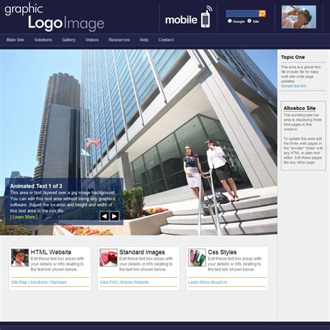 design themes list html web template initiative navy blue with matching