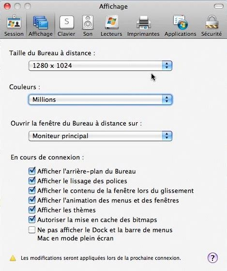 connection bureau a distance pour mac bureau a distance mac