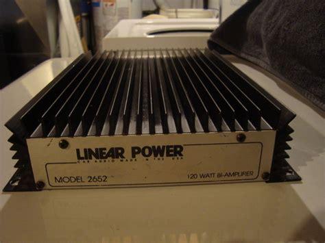 Power Lifier Linear linear power 2652 lifier