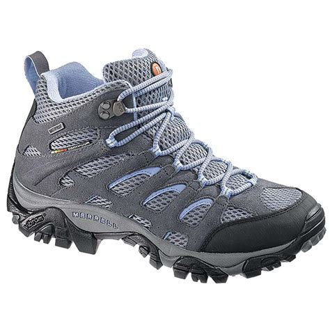womans hiking boots merrell s moab mid wp hiking boots grey periwinkle