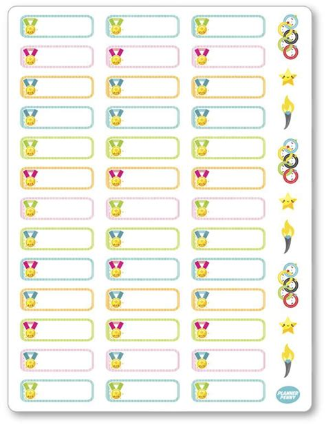 printable planner stickers pdf olympic labels pdf printable planner stickers planner penny