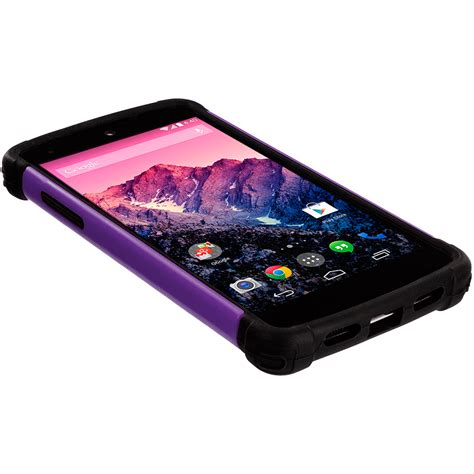 nexus 5 rugged black hybrid rugged matte shockproof cover for lg nexus 5