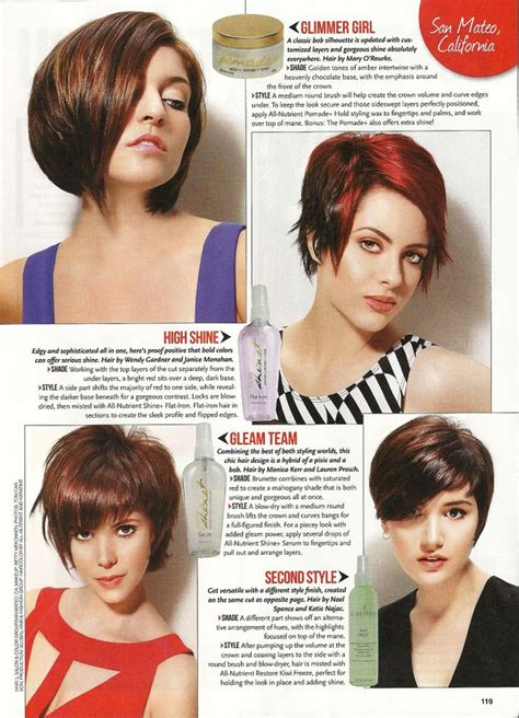 hair cut and style magazine 49 best awesome magazine spreads images on pinterest