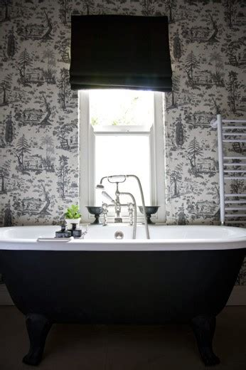 black and white toile wallpaper bathroom black and white toile wallpaper design ideas