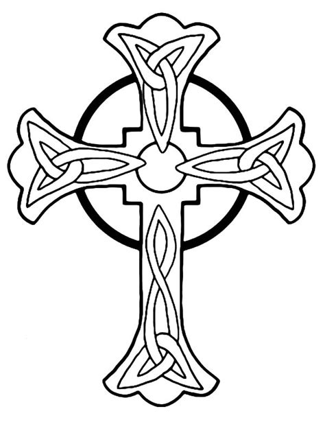 free coloring pages of celtic cross