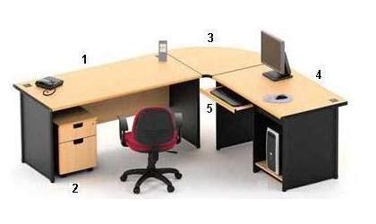 Meja Workstation highpoint 1 meja kantor one series warna beech high point one