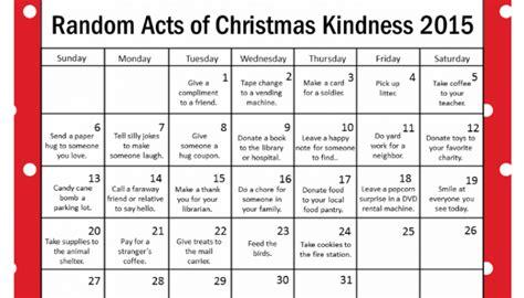printable christmas advent calendar 2015 random acts of christmas kindness archives coffee cups