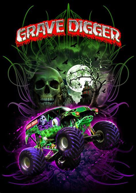 grave digger truck poster gravedigger poster big and gravedigger