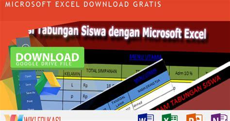 Software Lp2p aplikasi tabungan siswa sekolah dengan microsoft excel