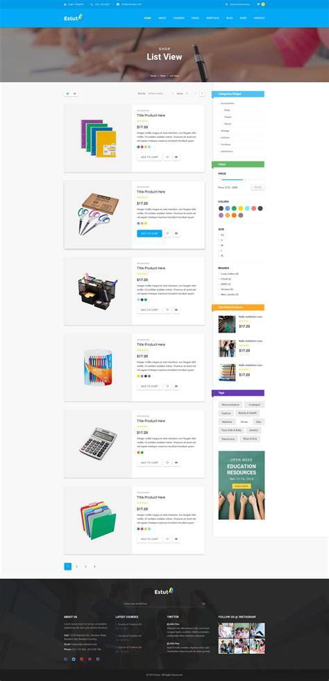 wordpress theme listview estut material design education learning centre kid