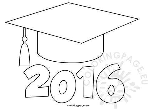 graduation hat template graduation cap 2016 coloring page