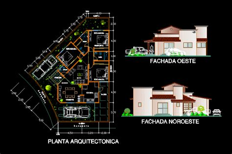 home cad house 2d dwg plan for autocad designscad