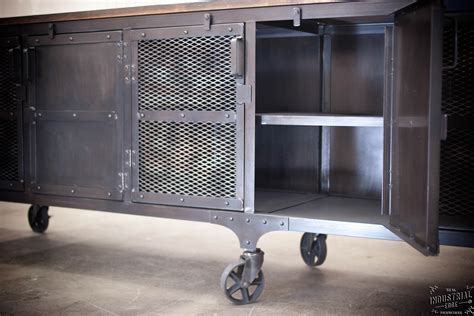 Custom Industrial 9 foot Rolling Media Cabinet / Wood