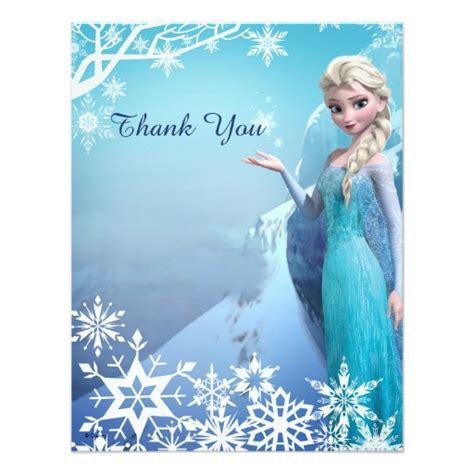 frozen thank you card template frozen elsa thank you paper invitation card