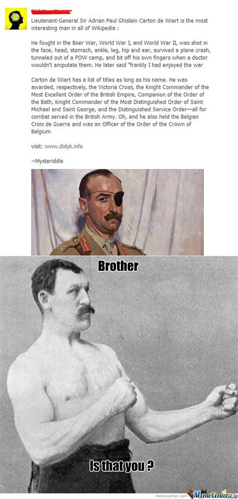 Meme Overly Manly Man - overly manly man s brother by rocky7 meme center